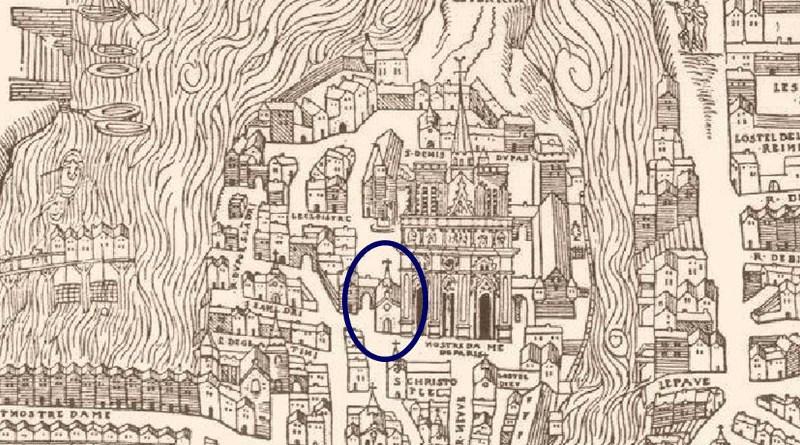 saint jean le rond extrait du plan de Tuchet Hoyaux 1552