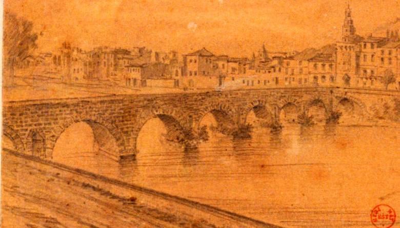 Pont romain de Sommière dans le Gard par Millling
