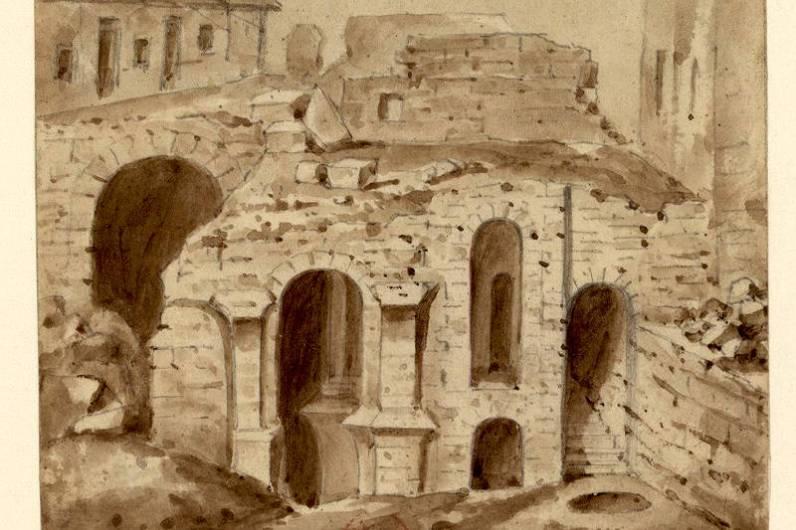 Démolition des fondation de l'église Sainte Marie Madeleine de la Cité par A Bénard