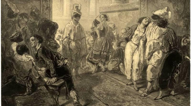 Musée de Mœurs en actions par Gavarni intrigue du bal de l'Opéra