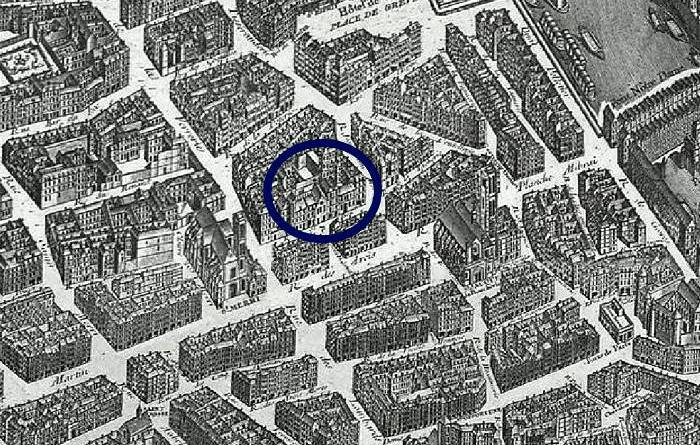Saint Bon extrait du plan de Turgot 1739