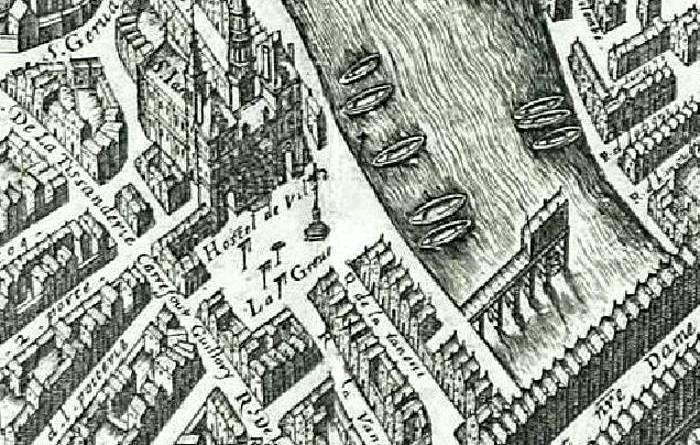 Saint Jean en Grève extrait du plan de Vassalieu 1609