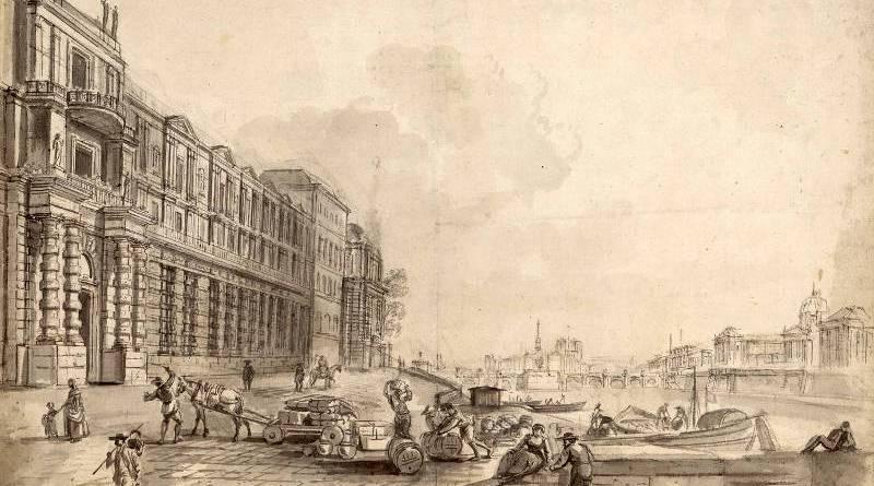 Port Saint Nicolas - quai du Louvre par Jean Baptiste Lallemand