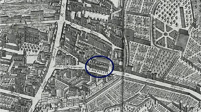 Saint Hippolyte extrait du plan de Turgot 1739