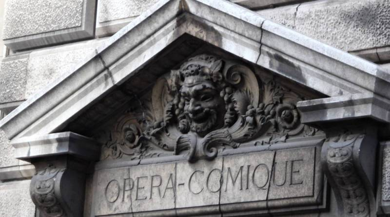 mascaron de la Salle Favart Opéra Comique