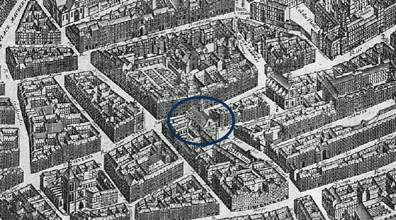 Saint Côme extrait du plan de Turgot 1739