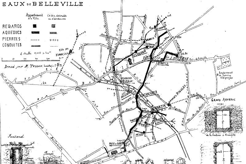 plan des eaux de Belleville