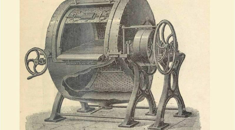 machine à laver à double enveloppe extrait des Lavoirs de Paris par J Moisy
