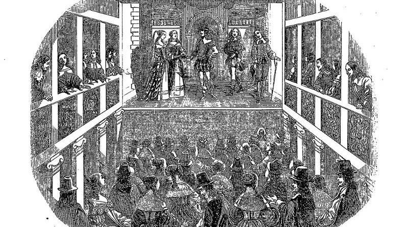 salle de spectacle sous Louis XIII d'après Chauveau extrait Magasin pittoresque 1848