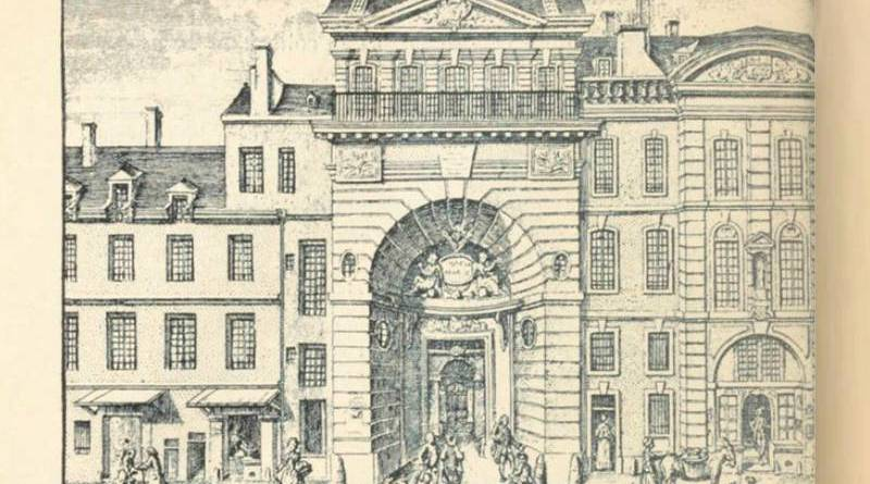 facade college d'Harcourt au XVIIIe siècle - gravure de Martinet