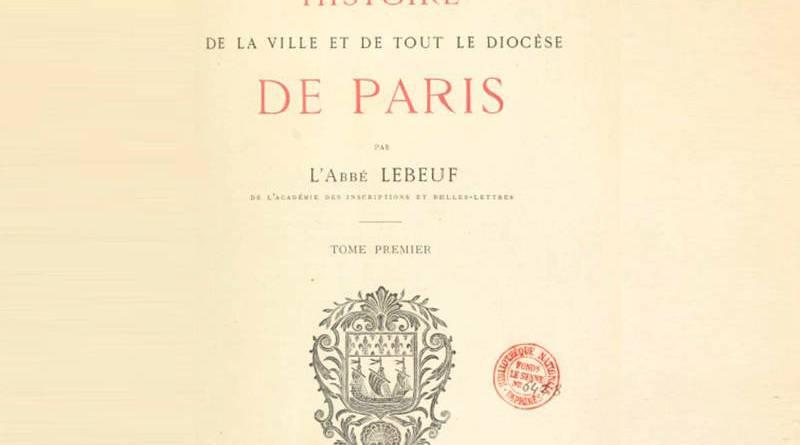 réédition par Vincent Augier et Fernand Bournon de l'Histoire de Jean Lebeuf