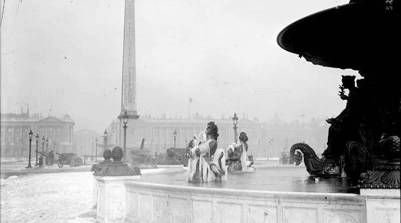 Froid à la Concorde en février 1919 par Agence Rol