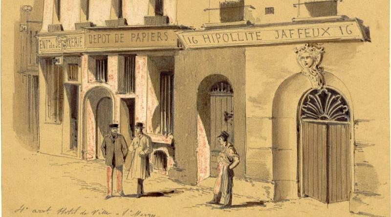 Groupe de vieilles maisons 16 rue du Platre par Jules-Adolphe Chauvet - 1895