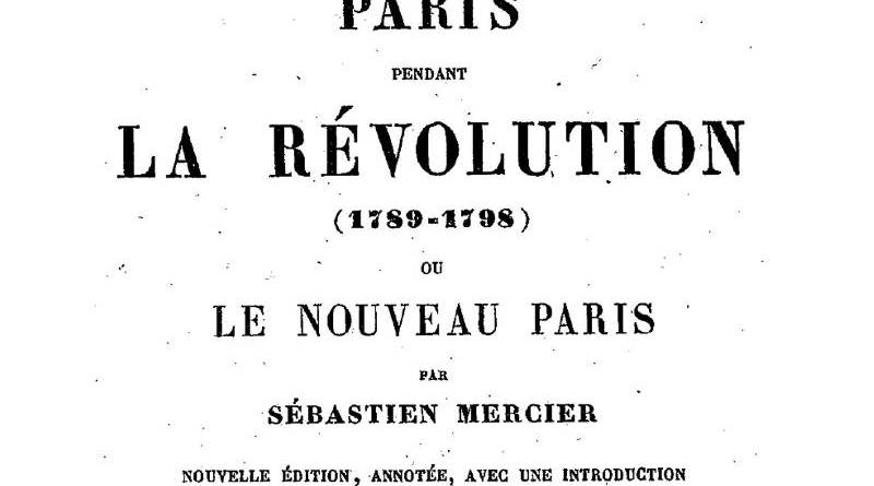 Illustration du nouveau Paris de Mercier - édition de 1862