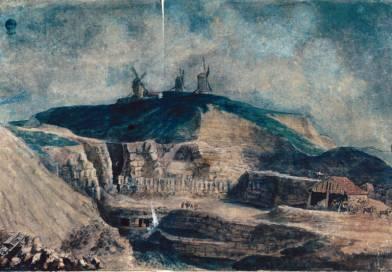 Vue de la carrière à platre de Montmartre du côté de Monceau