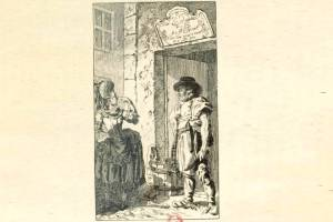 gravure de Dunker pour le tableau de Paris de LS Mercier - boucher