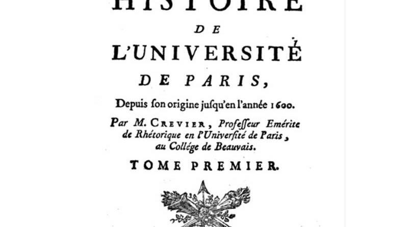 illustration de l'Histoire de l'Université de Paris par Jean Baptiste Crevier