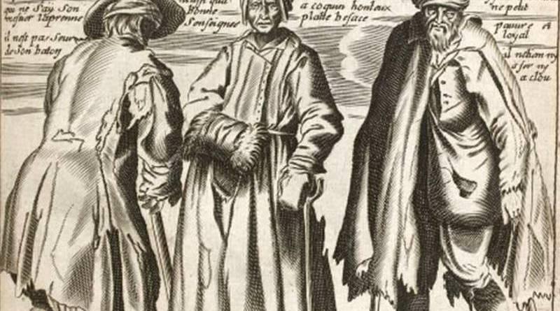 illustration du troisième livre de la vie des gueux par Jacques Lagniet au XVIIe siècle