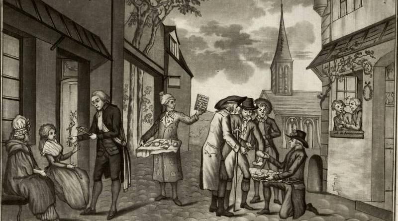 Messieurs Pe...on Derue et Bri..ot tous les trois bons bourgeois de Chartres arrivant a Paris pour le bonheur de cette capitale.