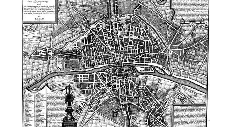 septième plan de Paris par Nicolas de Fer