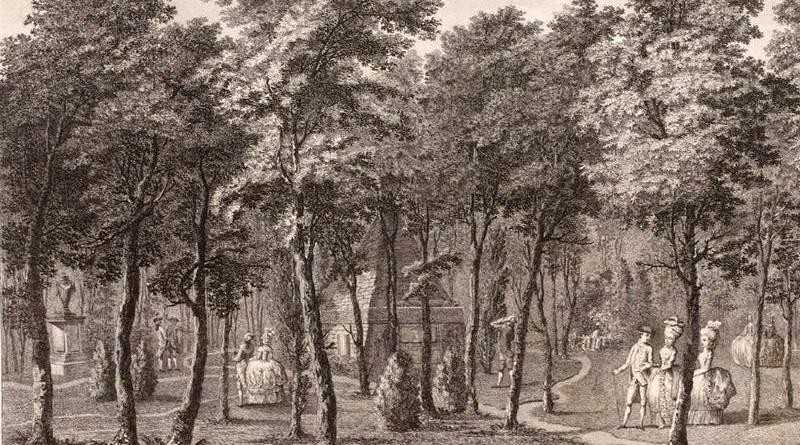bois des tombeaux du jardin du duc de Chartres