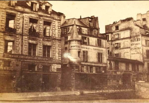 Rue de la Tixéranderie - Hôtel meublé de la Tourelle en 1852