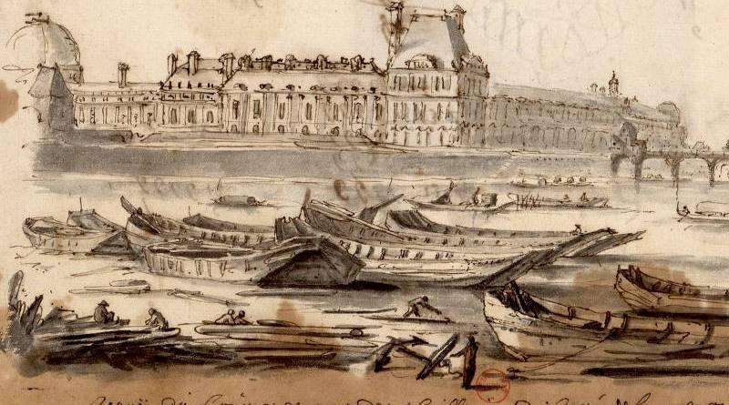 Vue du Louvre et pont des thuilleries par Albert Flamen