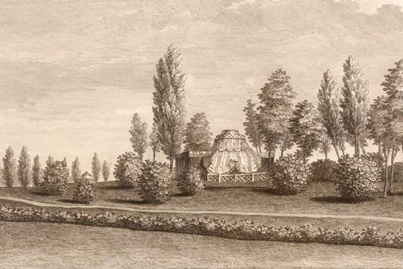 tente tartare du jardin du duc de Chartres