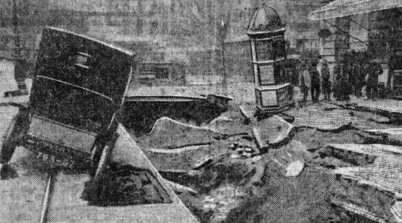 dégat rue Saint Lazare suite à l'orage du 18 septembre 1909