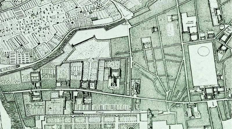 la butte Saint Roch en 1672 -extrait du plan de Jovin