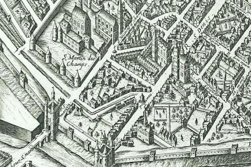 égout médiéval du Marais passant dans la rue du Ponceau