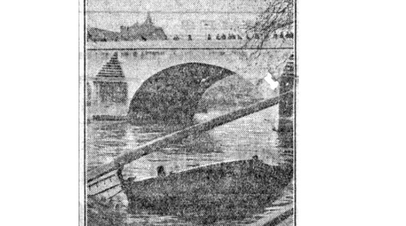accident de péniche du 12 janvier 1910 - extrait du Petit Parisien du 13 janvier 1910