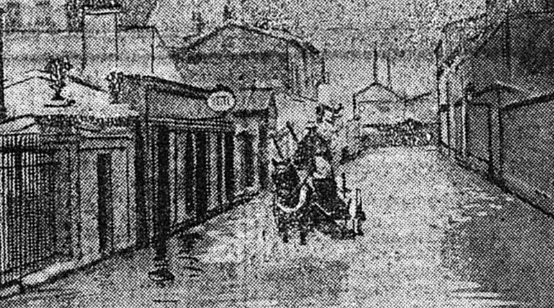 La rue Félicien David inondée en janvier 1910 - Petit Journal du 23 janvier 1910