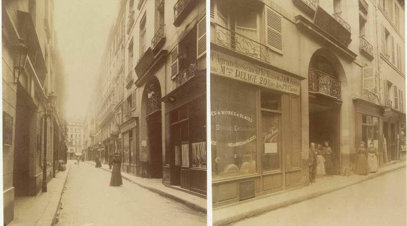 rue Villedo et l'hôtel Villedo photographiés par Eugène Atget