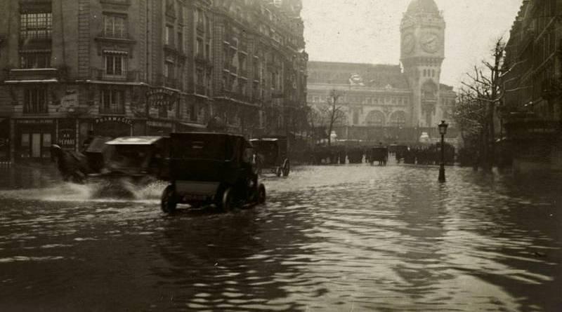 inondation dans le quartier de la gare de Lyon le 29 janvier 1910