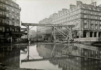place du Havre inondée par la crue de 1910