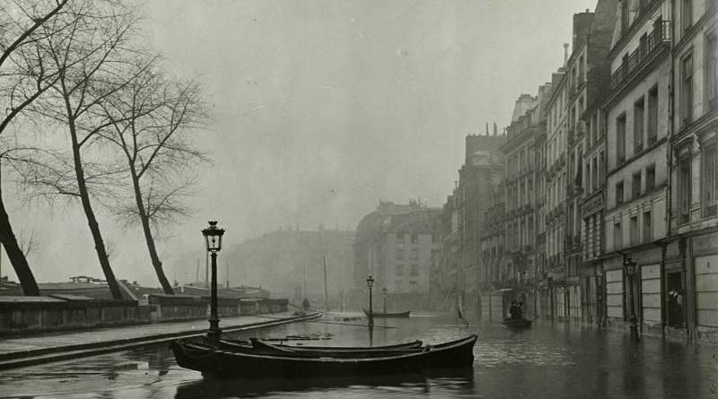 quai des grands augustins inondé en janvier 1910