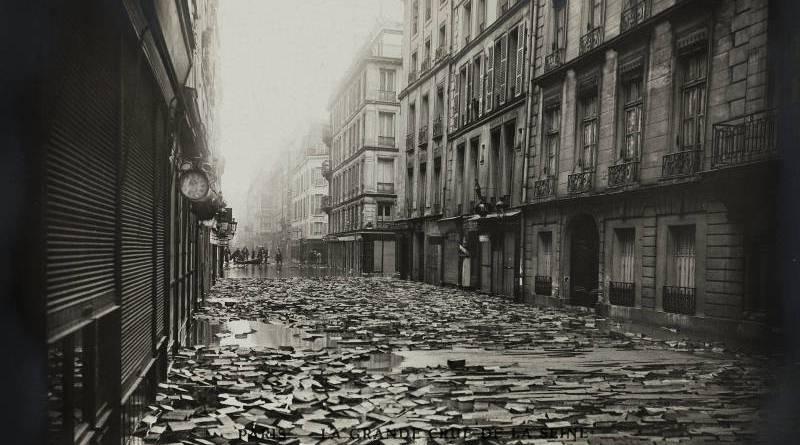 soulèvement du pavage en bois de la rue Jacob en janvier 1910