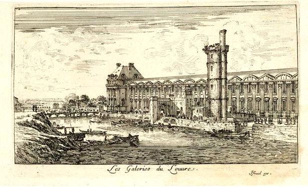Les Galeries du Louvre gravé par Israel Silvestre - Louvre