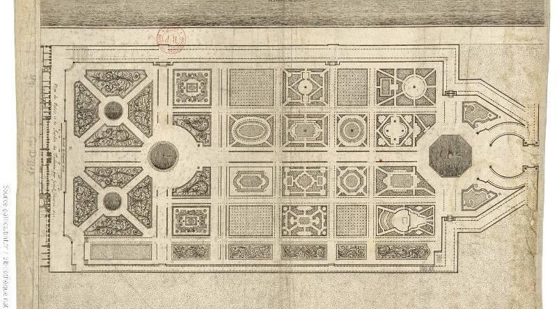 Plan du Palais et du Jardin des Tuileries par Israel Silvestre