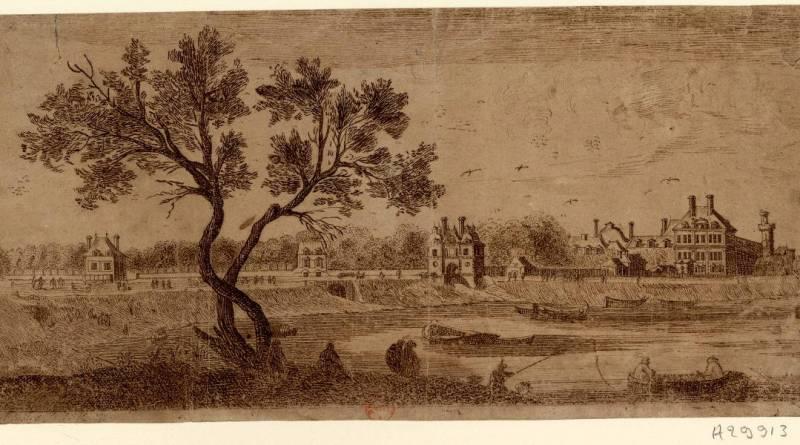 Vue et perspective du jardin et du pont des Tuileries par Israel Silvestre