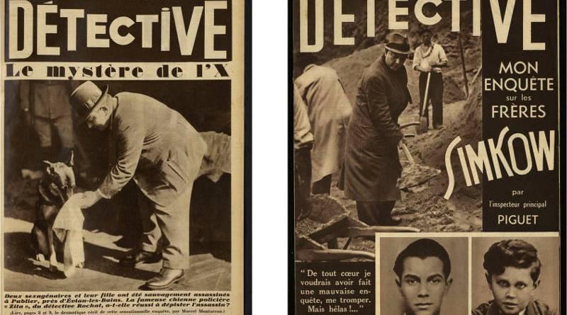 couvertures de Détective en 1933 et 1938