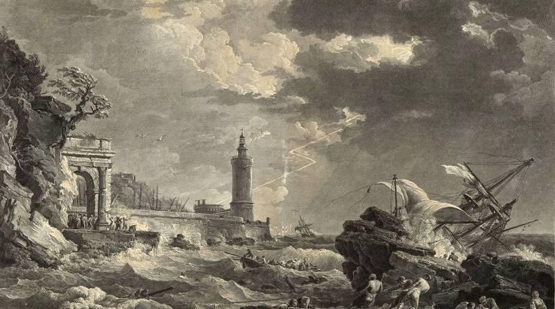 La tempête, estampe par Jean Joseph Baléchou