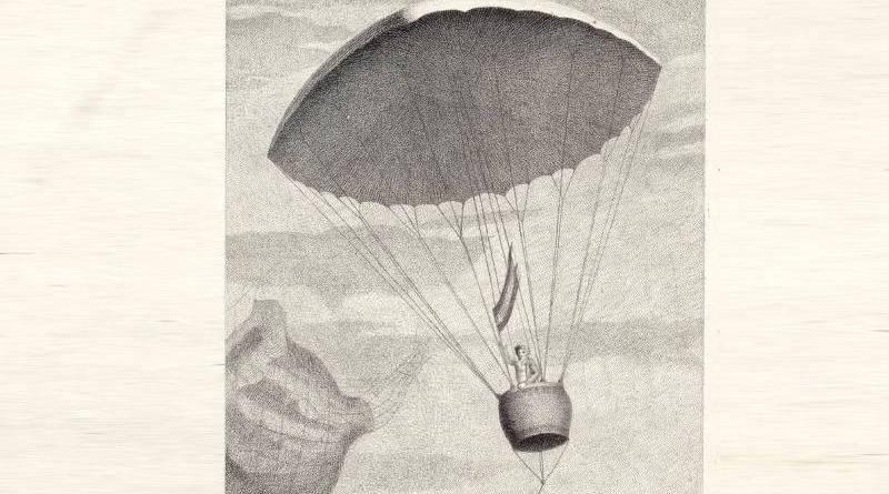 Experience du parachûte par Simon Petit