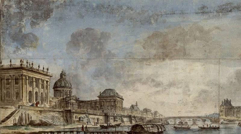 Le Palais de l'Institut (Collège des Quatre Nations) par Jean Baptiste Lallemand