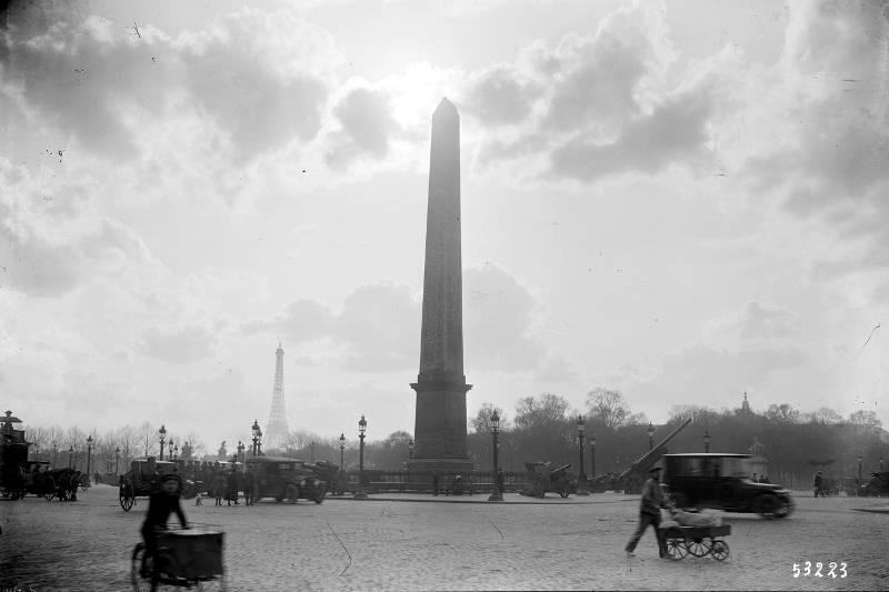 Place de la Concorde en 1919 par Agence Rol