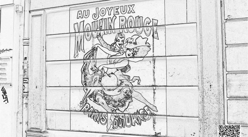 Coloriage rideau de fer de la rue Cavallotti
