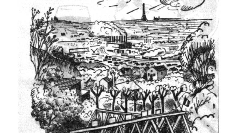 vue des guinguettes des moulins de Sannois - Petit Parisien du 11 juin 1934