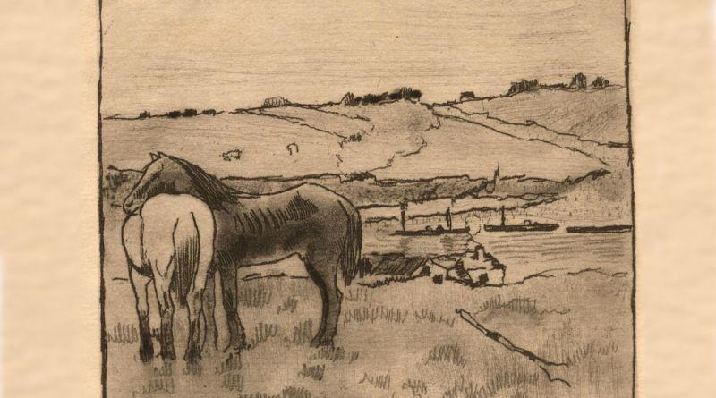 Chevaux dans la plaine par Edgar Degas