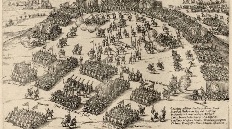 Henri IV passe en revue les troupes qu'avaient envoyées à son secours les princes allemands